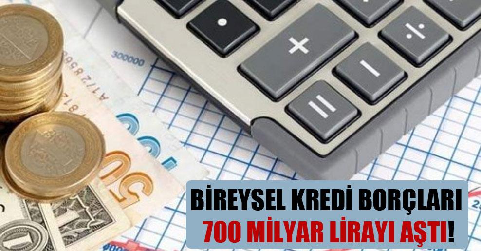 Bireysel kredi borçları 700 milyar lirayı aştı!