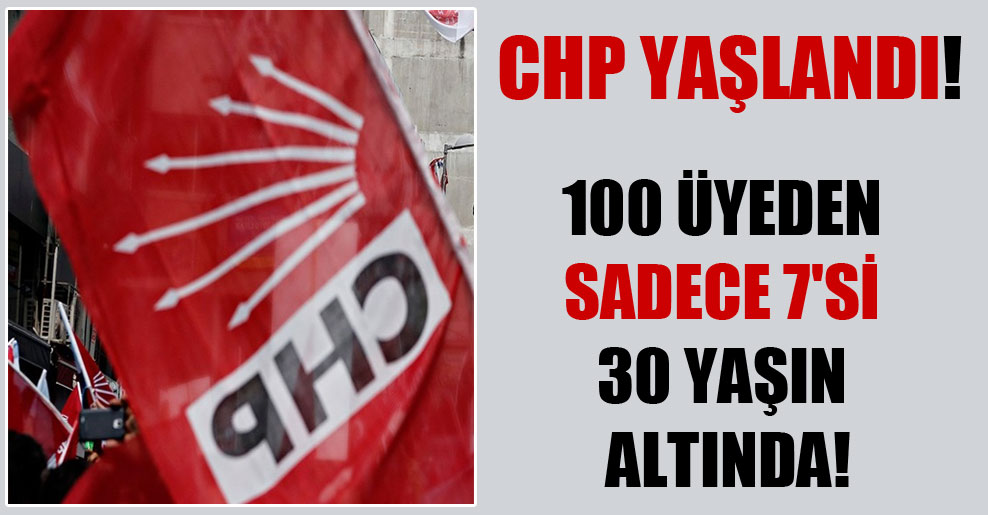 CHP yaşlandı! 100 üyeden sadece 7'si 30 yaşın altında!
