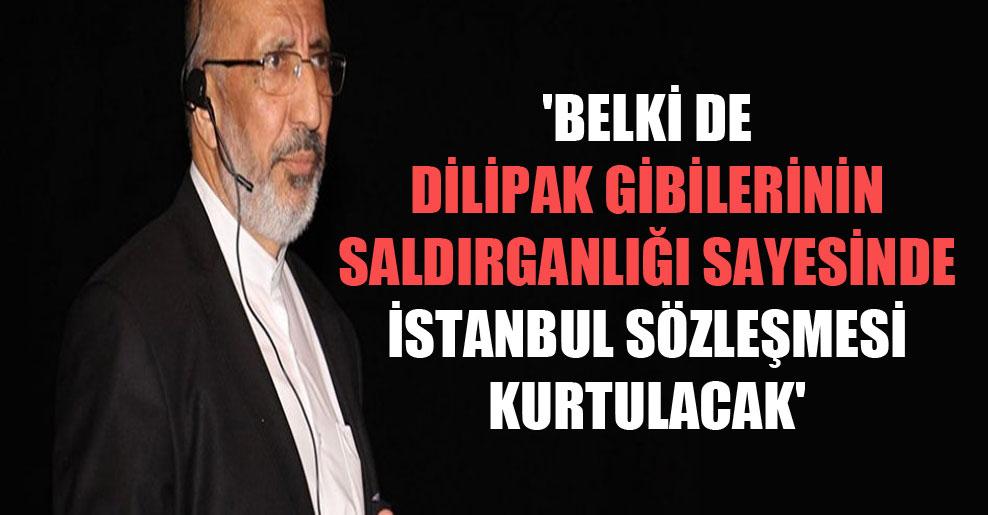 'Belki de Dilipak gibilerinin saldırganlığı sayesinde İstanbul Sözleşmesi kurtulacak'
