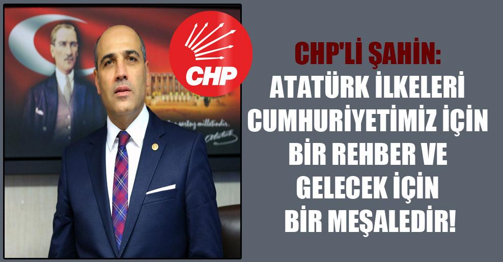 CHP'li Şahin: Atatürk ilkeleri Cumhuriyetimiz için bir rehber ve gelecek için bir meşaledir!