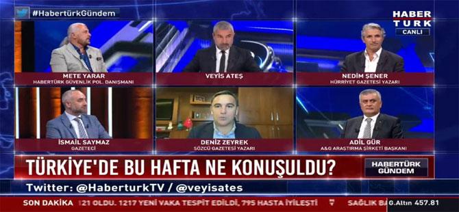 Habertürk'te 'medya dedikodusu'; Deniz Zeyrek'ten Fatih Portakal, Veyis Ateş'ten Ersoy Dede haberi