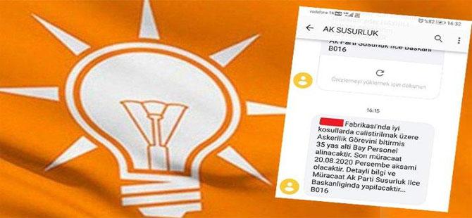 AKP, İŞKUR gibi… 'Müracaatlar ilçe başkanlığına yapılacaktır'
