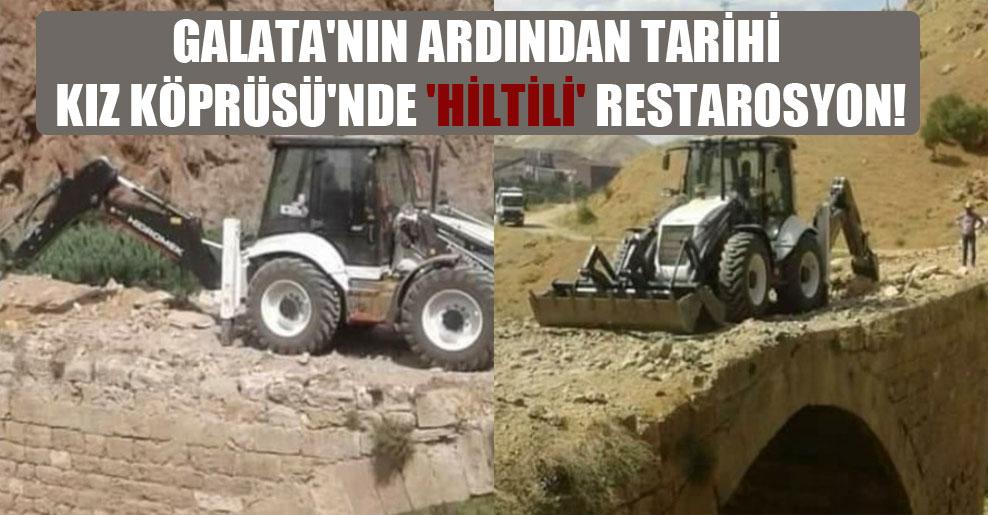 Galata'nın ardından Tarihi Kız Köprüsü'nde 'hiltili' restarosyon!