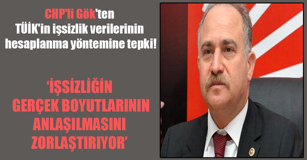CHP'li Gök'ten TÜİK'in işsizlik verilerinin hesaplanma yöntemine tepki! 'İşsizliğin gerçek boyutlarının anlaşılmasını zorlaştırıyor'