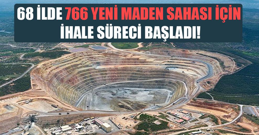 68 ilde 766 yeni maden sahası için ihale süreci başladı!