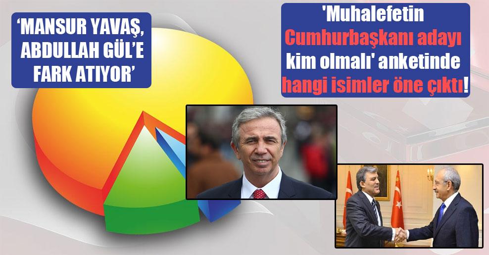 'Muhalefetin Cumhurbaşkanı adayı kim olmalı' anketinde hangi simler öne çıktı!