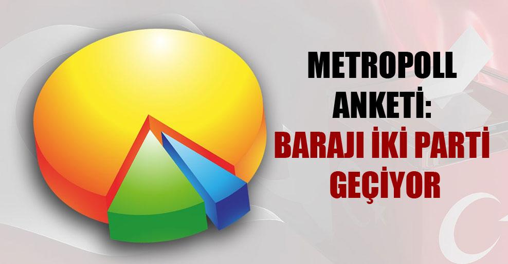 Metropoll anketi: Barajı iki parti geçiyor