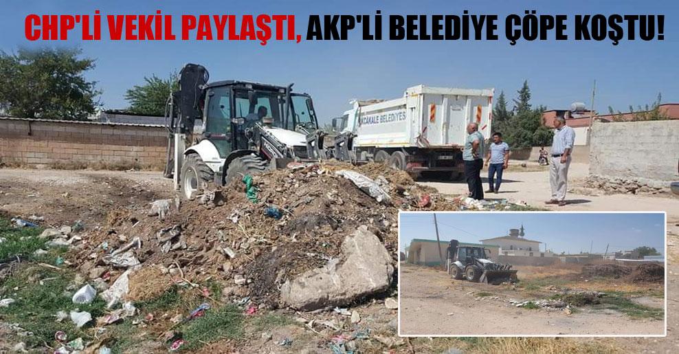 CHP'li vekil paylaştı, AKP'li belediye çöpe koştu!