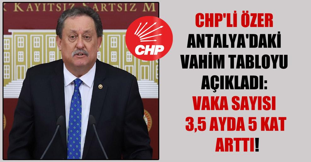 CHP'li Özer Antalya'daki vahim tabloyu açıkladı: Vaka sayısı 3,5 ayda 5 kat arttı!
