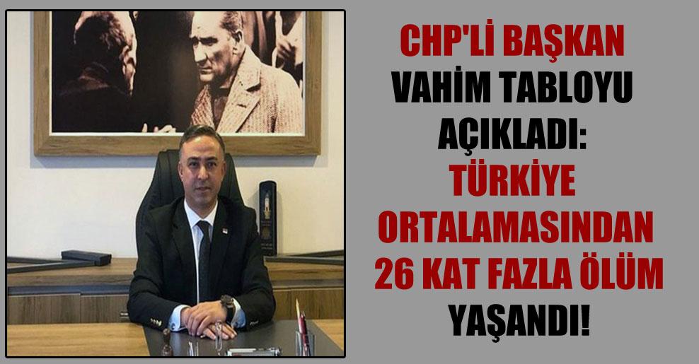CHP'li Başkan vahim tabloyu açıkladı: Türkiye ortalamasından 26 kat fazla ölüm yaşandı!