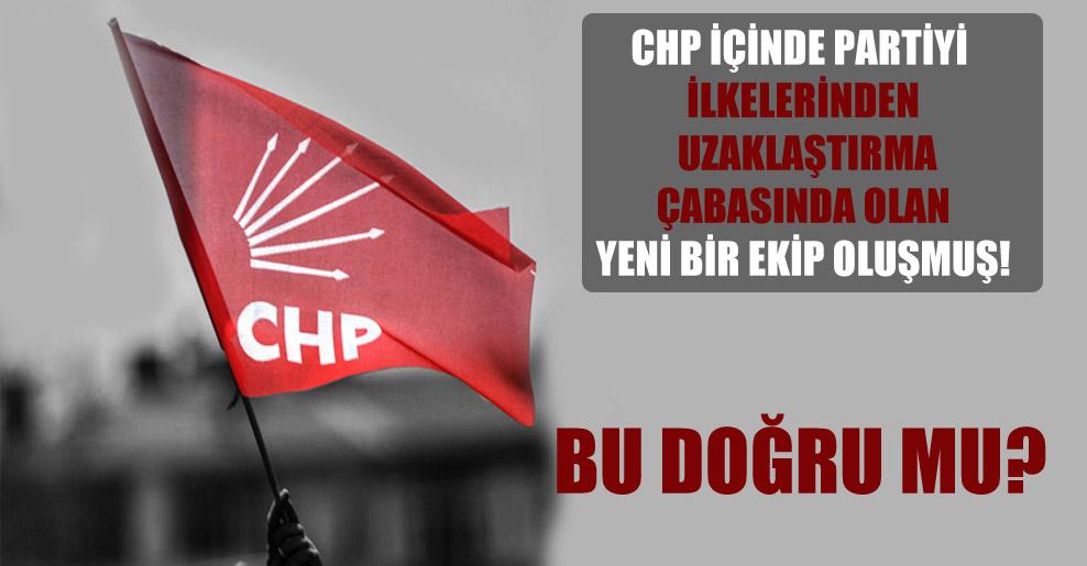 CHP içinde partiyi ilkelerinden uzaklaştırma çabasında olan yeni bir ekip oluşmuş!