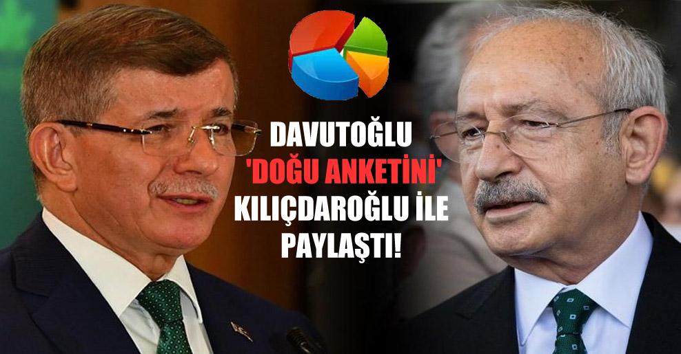 Davutoğlu 'doğu anketini' Kılıçdaroğlu ile paylaştı!