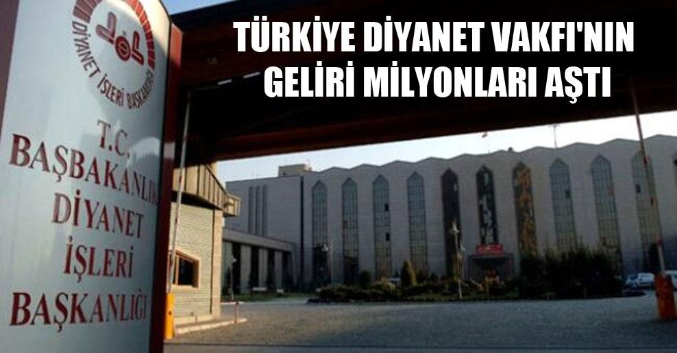 Türkiye Diyanet Vakfı'nın geliri milyonları aştı