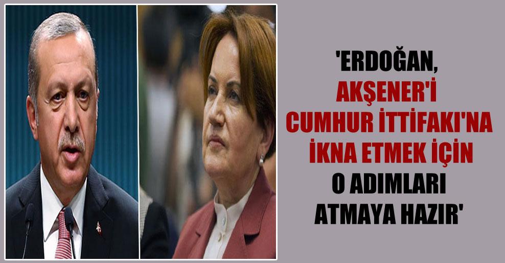 'Erdoğan, Akşener'i Cumhur İttifakı'na ikna etmek için o adımları atmaya hazır'