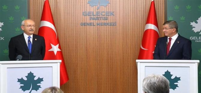 Kılıçdaroğlu ve Davutoğlu'ndan 'seçim ittifakı' açıklaması: Gündeme gelmedi