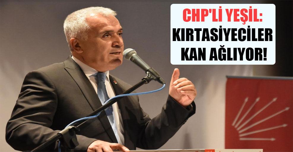 CHP'li Yeşil: Kırtasiyeciler kan ağlıyor!