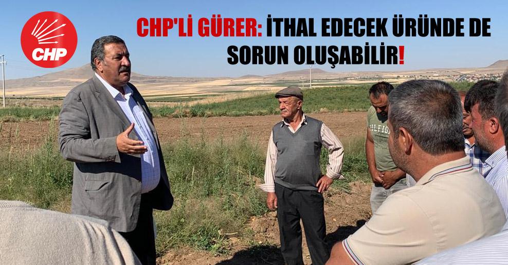 CHP'li Gürer: İthal edecek üründe de sorun oluşabilir!