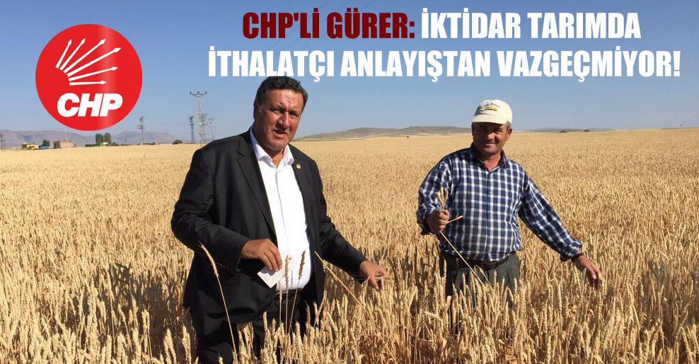 CHP'li Gürer: İktidar tarımda ithalatçı anlayıştan vazgeçmiyor!
