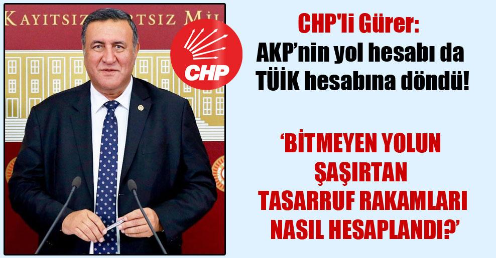 CHP'li Gürer: AKP'nin yol hesabı da TÜİK hesabına döndü!