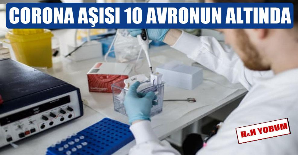 Corona aşısı 10 Avronun altında