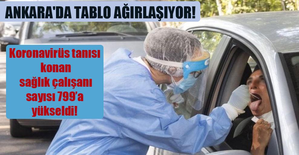 Ankara'da tablo ağırlaşıyor! Koronavirüs tanısı konan sağlık çalışanı sayısı 799'a yükseldi!