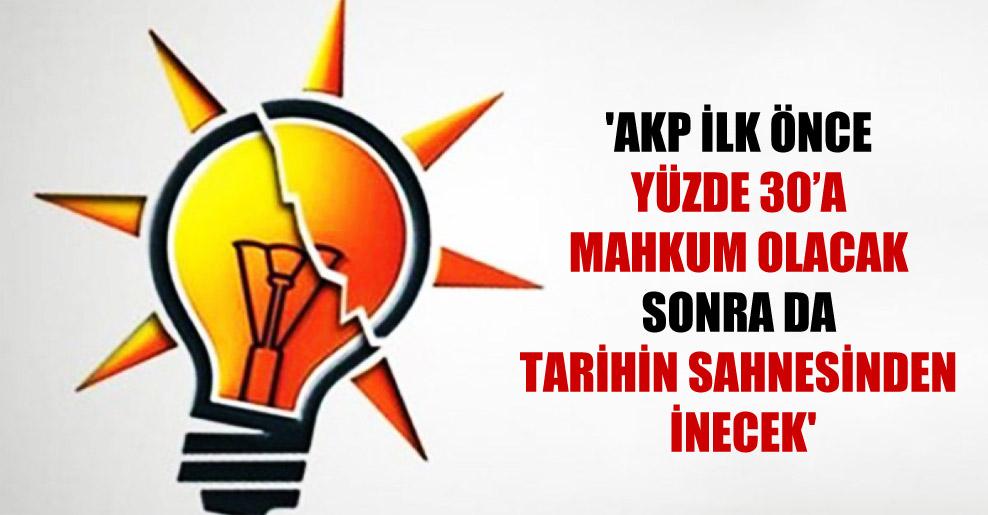 'AKP ilk önce yüzde 30'a mahkum olacak sonra da tarihin sahnesinden inecek'