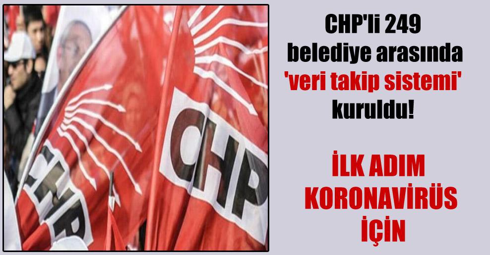 CHP'li 249 belediye arasında 'veri takip sistemi' kuruldu!