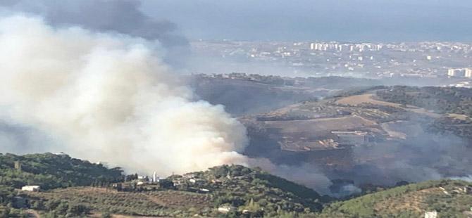 Hatay'da dün başlayan orman yangınını söndürme çalışmaları sürüyor: Gözaltılar var