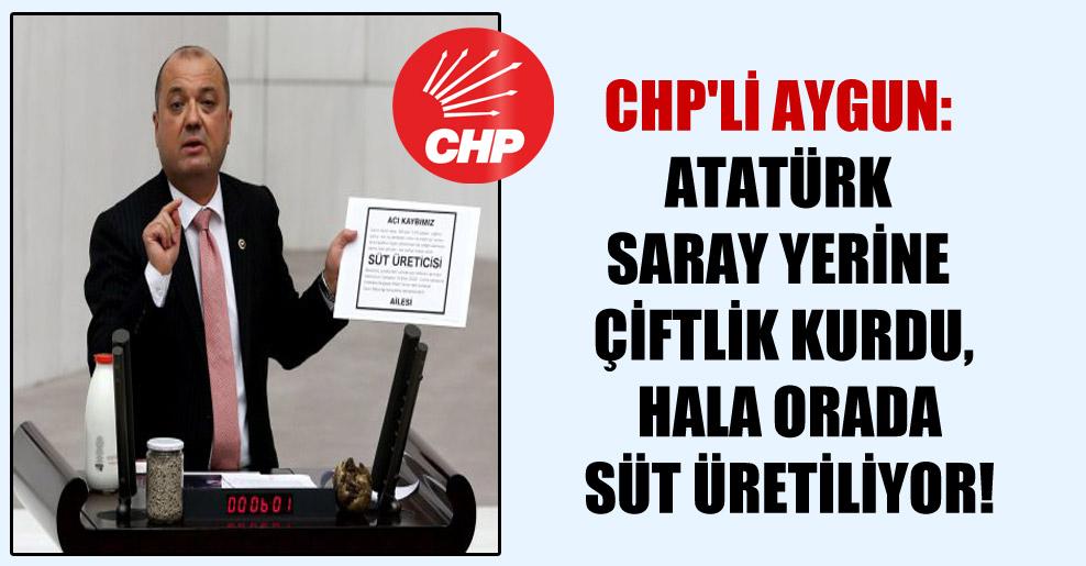 CHP'li Aygun: Atatürk saray yerine çiftlik kurdu, hala orada süt üretiliyor!