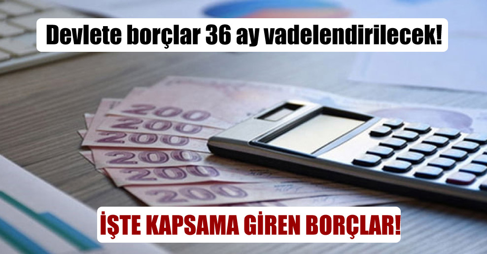 Devlete borçlar 36 ay vadelendirilecek!