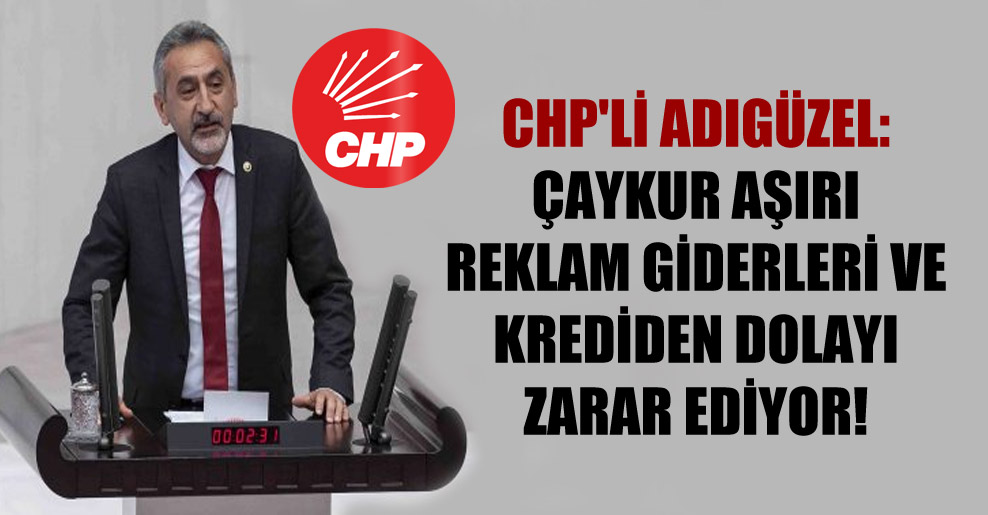 CHP'li Adıgüzel: ÇAYKUR aşırı reklam giderleri ve krediden dolayı zarar ediyor!