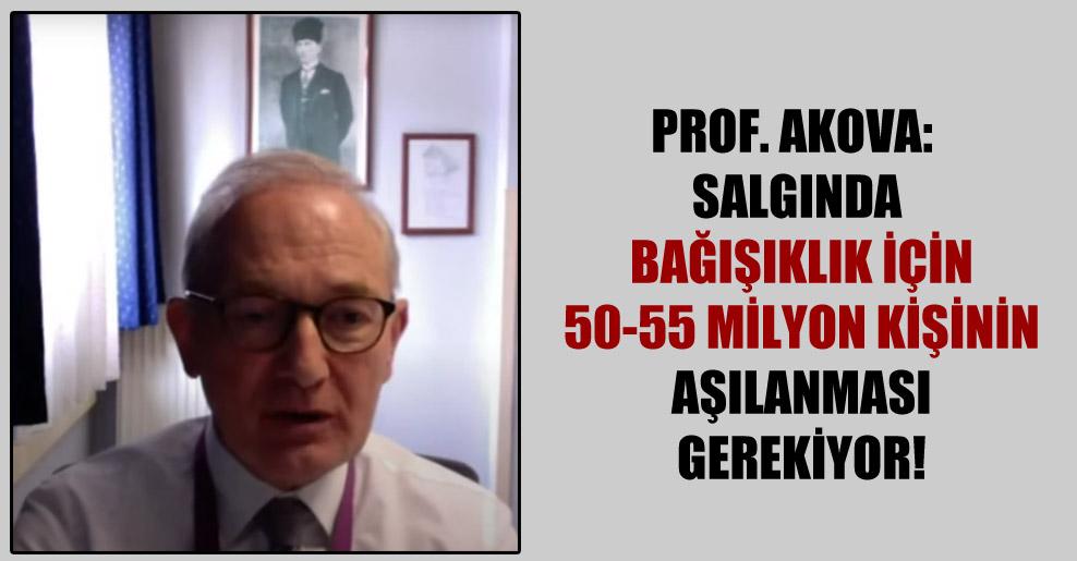 Prof. Akova: Salgında bağışıklık için 50-55 milyon kişinin aşılanması gerekiyor!