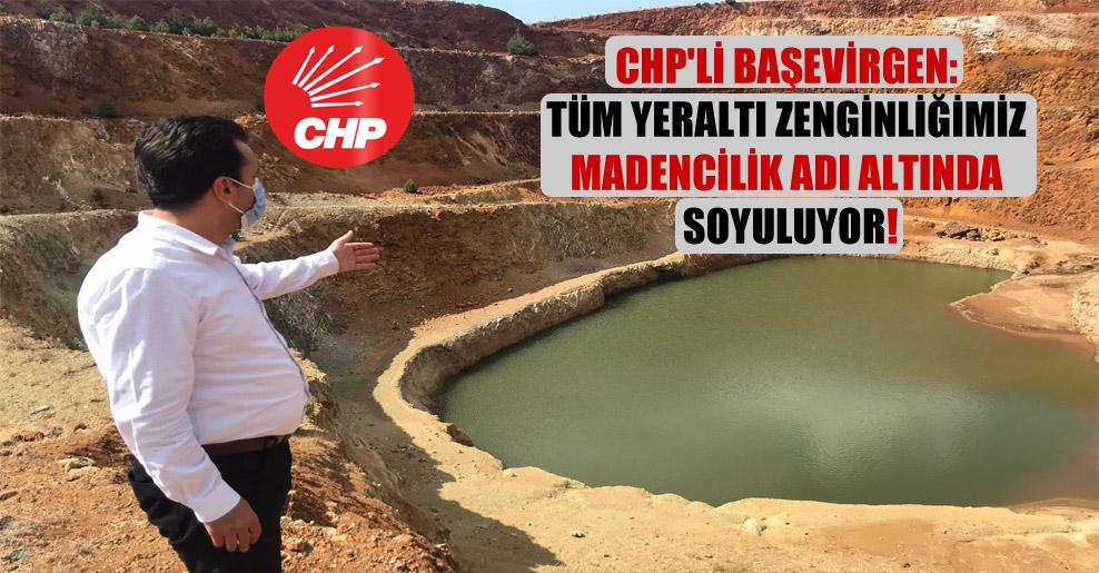 CHP'li Başevirgen: Tüm yeraltı zenginliğimiz madencilik adı altında soyuluyor!