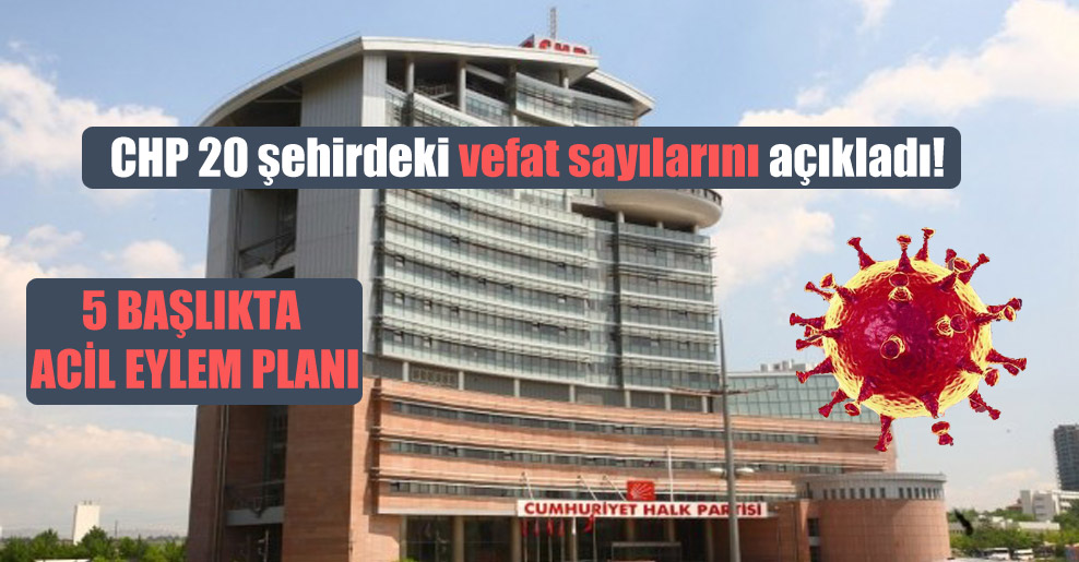 CHP 20 şehirdeki vefat sayılarını açıkladı!