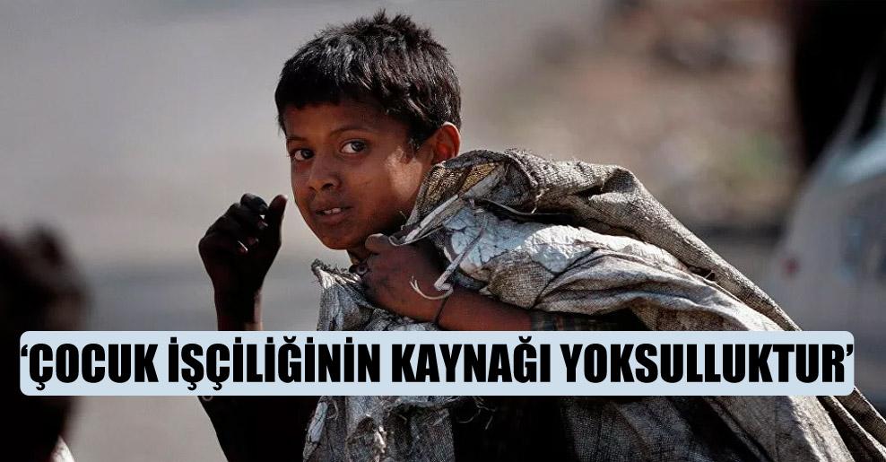 'Çocuk işçiliğinin kaynağı yoksulluktur'