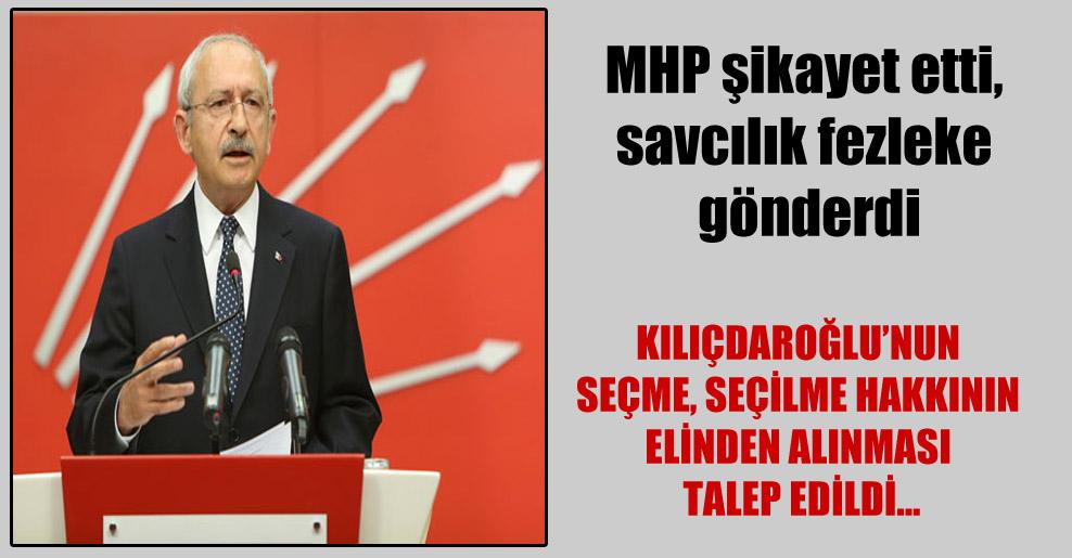 MHP şikayet etti, savcılık fezleke gönderdi!