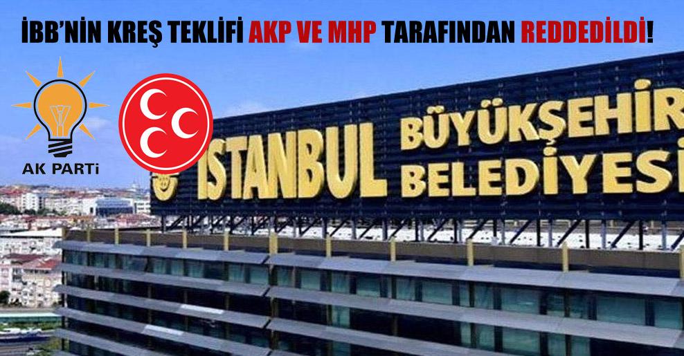 İBB'nin kreş teklifi AKP ve MHP tarafından reddedildi!