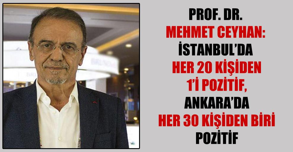 Prof. Dr. Mehmet Ceyhan: İstanbul'da her 20 kişiden 1'i pozitif, Ankara'da her 30 kişiden biri pozitif