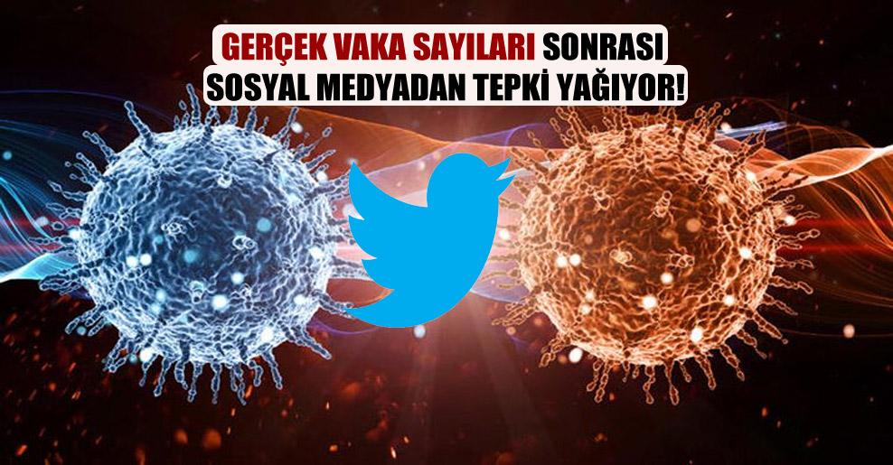 Gerçek vaka sayıları sonrası sosyal medyadan tepki yağıyor!
