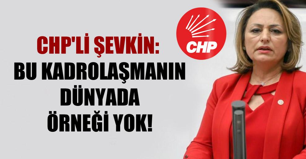 CHP'li Şevkin: Bu kadrolaşmanın dünyada örneği yok!