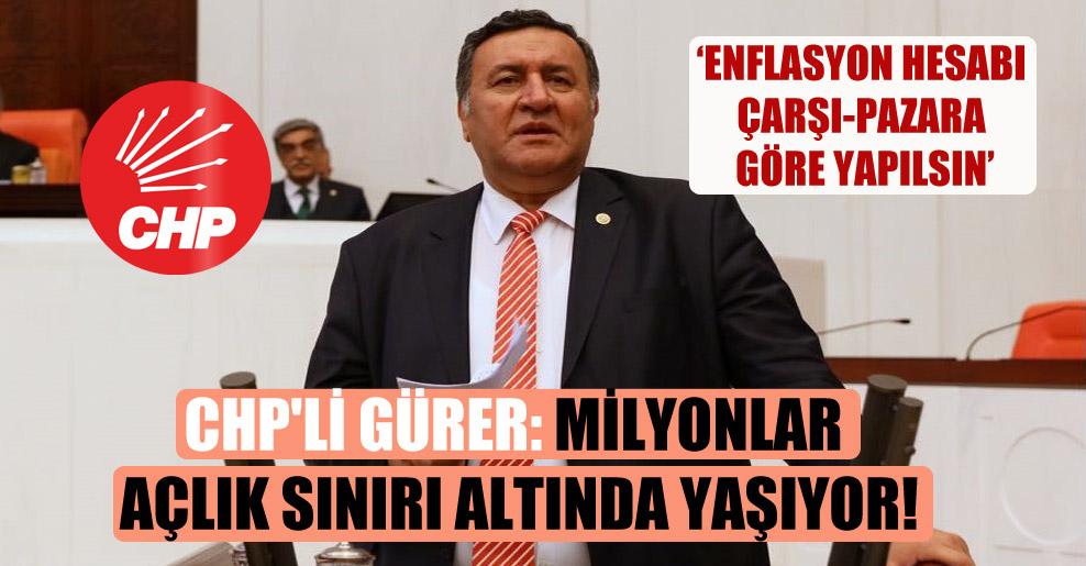 CHP'li Gürer: Milyonlar açlık sınırı altında yaşıyor!