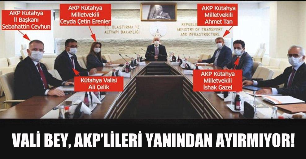 Vali bey, AKP'lileri yanından ayırmıyor!