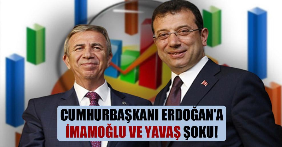 Cumhurbaşkanı Erdoğan'a İmamoğlu ve Yavaş şoku!