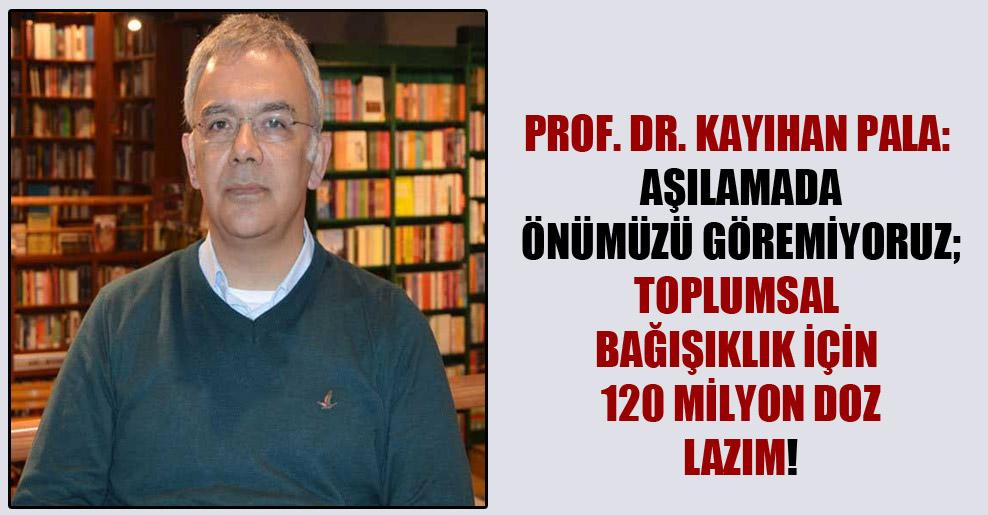 Prof. Dr. Kayıhan Pala: Aşılamada önümüzü göremiyoruz; toplumsal bağışıklık için 120 milyon doz lazım!
