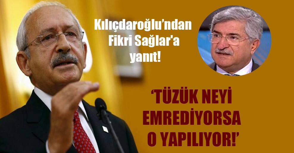 Kılıçdaroğlu'ndan Fikri Sağlar'a yanıt!
