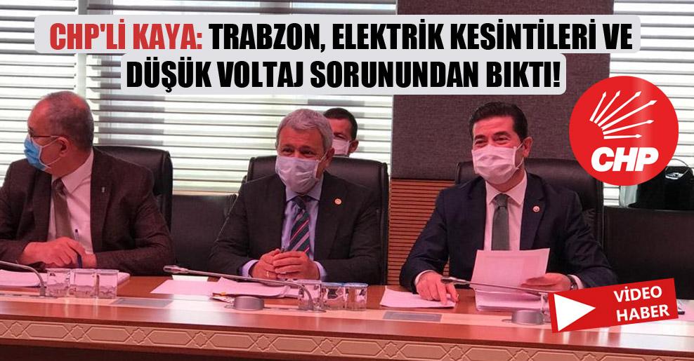 CHP'li Kaya: Trabzon, elektrik kesintileri ve düşük voltaj sorunundan bıktı!