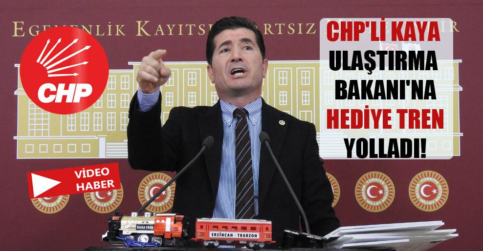 CHP'li Kaya Ulaştırma Bakanı'na hediye tren yolladı!