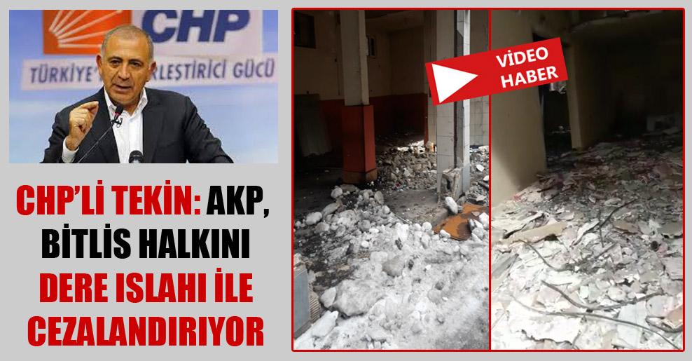 CHP'li Tekin: AKP, Bitlis halkını dere ıslahı ile cezalandırıyor