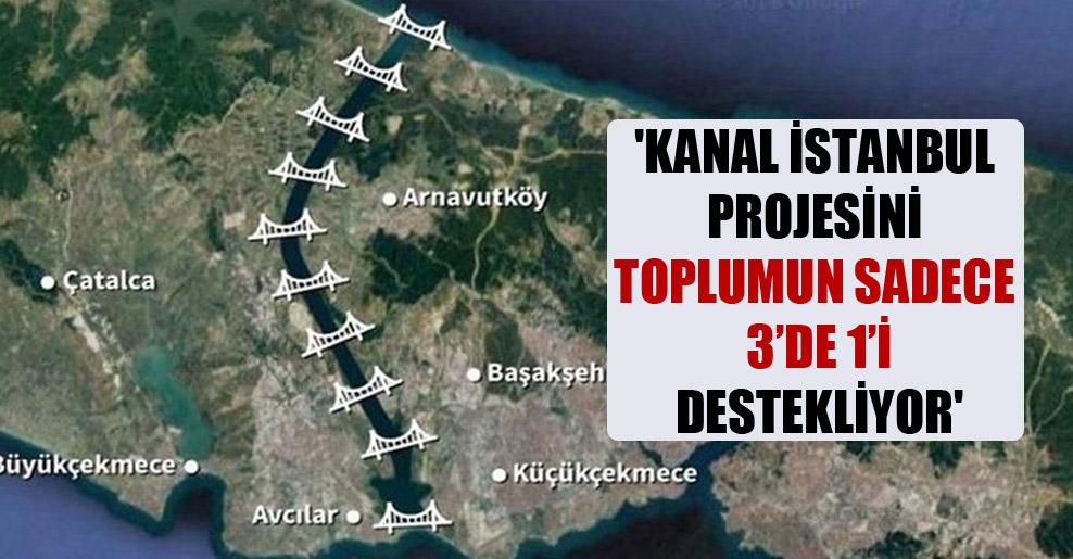 'Kanal istanbul projesini toplumun sadece 3'de 1'i destekliyor'