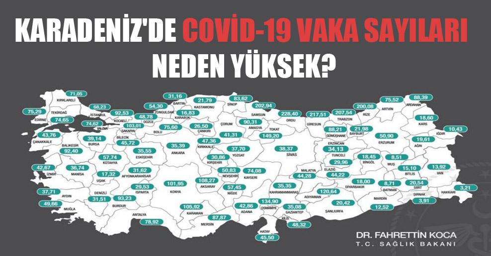 Karadeniz'de Covid-19 vaka sayıları neden yüksek?